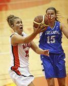 Sesión de baloncesto jugador mujer Ontario