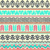 image of indian blue  - Abstract tribal pattern - JPG
