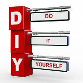 3D Modern Signboard Of Diy