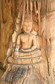 Buddha Carved Out Of Wood