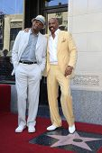 LOS ANGELES - MAY 13: Steve Harvey and Samuel L Jackson at a ceremony where Steve Harvey is honored with a star on the Hollywood Walk Of Fame on May 13, 2013 in Los Angeles, California
