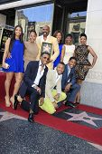 LOS ANGELES - MAY 13: Steve Harvey, Marjorie Bridges and family at a ceremony where Steve Harvey is honored with a star on the Hollywood Walk Of Fame on May 13, 2013 in Los Angeles, California