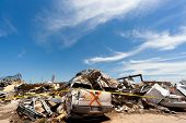 Moore, Oklahoma (USA) - May 20th 2013. EF5 tornado strikes the city of Moore, Oklahoma. The whole town is abolished. These images show the heavy damage.