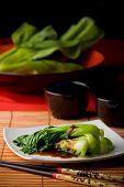 asiatischem Gemüse mit Austernsauce