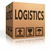 Logistics freight transportation cardboard box concept for international and global trade and packag