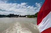Grein , Danube, Austrian Flag