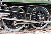 detail of steam locomotive, East Lancashire Railway, Lancashire and Greater Manchester, England
