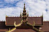Lanna Ubosoth In Chiangmai , Thailand