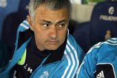 BARCELONA - MAY, 11: Jose Mourinho of Real Madrid during the Spanish League match between Espanyol a