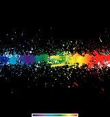 Salpicaduras de pintura de color. Vector gradiente de fondo
