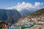 Namche Bazaar, the transit town for trekkers and mountaineers in Nepal's Everest Region