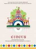 image of cupola  - Circus tent frame with space for text - JPG