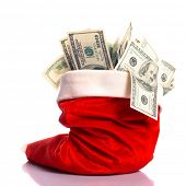 foto of prosperity sign  - Christmas hat full of  - JPG