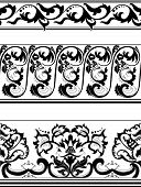 Set Of Black And White Borders