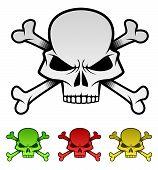 Evil Skulls Illustration Set