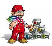 Handyman - Colour Picking Painter Red Uniform
