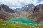 Beautiful lake in Tien Shan mountains, Kirgizstan