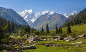 stock photo of shan  - Landscape of high mountain - JPG