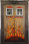 Street Art - Open Door Art - Fire Flames