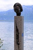 Statue Of Miles Davis In Montreux, Switzerland
