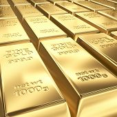 stacks of gold bars background