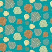 Seamless Sealife Vector Pattern