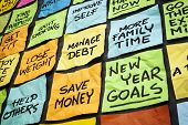stock photo of promises  - new year goals or resolutions  - JPG