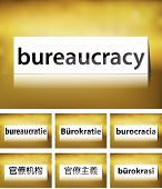foto of bribery  - Illustration of Bribery Concept on white background in seven languages - JPG