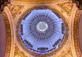 Basilica Dome Church Of El Salvador Seville Andalusia Spain