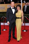 LOS ANGELES - JAN 27:  Damian Lewis & Helen McCrory arrives to the SAG Awards 2013  on January 27, 2013 in Los Angeles, CA