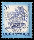 AUSTRIA - CIRCA 1974: A stamp printed in Austria shows Bishofsmutze, from the series