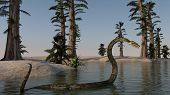 foto of burmese pythons  - giant python in water - JPG