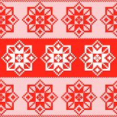 Seamless russian red pattern