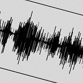 Abstract black seismogram