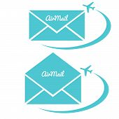 Envelope With Air Mail Sign