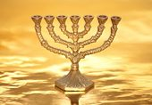 Golden Menorah