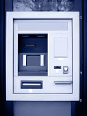 Automated Teller Machine In Blue Tone
