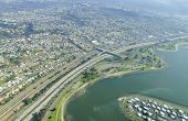stock photo of anza  - An aerial view of San Diego Mission Bay in southen California United States of America - JPG