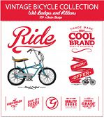 stock photo of bicycle gear  - bicycle illustration with label and badge 2 - JPG