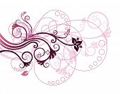 image of white purple  - Beautiful purple and pink floral design elements vector illustration - JPG