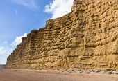 Jurassic Cliffs At West Bay Dorset In Uk
