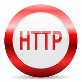http glossy web icon