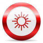 sun glossy web icon