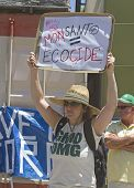 Monsanto Equals Ecocide Gmo Protest Sign