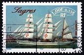 Postage Stamp France 1999 Sagres, Portuguese Sailing Ship