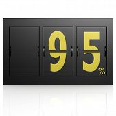Airport Display Board 95 Percent