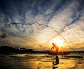 Fisherman Of Bangpra Lake