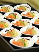 Smoked Salmon Appetizers On A Buffet Table