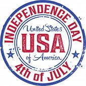 4th of July Vintage USA Stamp