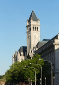 stock photo of old post office  - Tower of the Old Post Office building on Pennsylvania Avenue in Washington DC - JPG